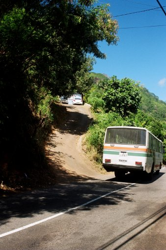 Very steep drives these Seychellois...